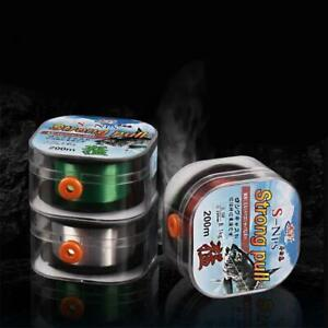Fishing Line 200m Fluorocarbon White Green Brown Wear Resistant Stretchable Wire