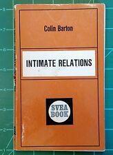 Colin Barton Intimate Relations Svea Books 1967 Vintage Paperback