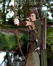 ERROL FLYNN ROBIN HOOD HUNTING IN FOREST STUNNING COLOR PHOTO BY CHIP SPRINGER