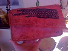 Maze Clutsch BTH 24/15/4 Leder, Metall, Farbe: cognac, neuwertig