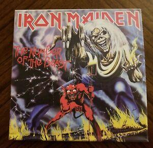 "Custom 12""x12"" Canvas Print Iron Maiden Number of the Beast Album Cover Artwork"