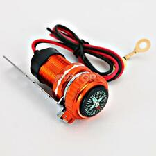 12V Motorcycle USB Charger Compass For Harley Davidson Police FLHP