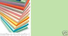 Lot 10 feuilles de papier A4 couleur VERT PRAIRIE pour scrapbooking 80g PRE