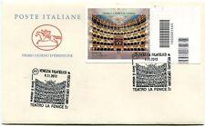 2013 FDC Teatro La Fenice - Venezia VARIETA NON FUSTELLATO Annullo CODICE BARRE