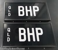 ".RARE ""BHP"" BREAK HORSE POWER QUEENSLAND NUMBER PLATES"