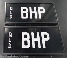 ".RARE ""BHP"" BREAK HORSE POWER QUEENSLAND NUMBER PLATES"
