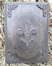 ornate fleur plaque plastic garden casting plaque mold mould