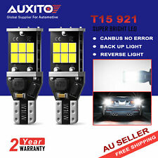 AUXITO T15 LED W16W Back up Reverse Wedge Light Globe 6000K White Super Bright