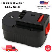 For Black&Decker HPB14 14.4Volt NiCad Long-Lasting Slide-Pack Battery A14F FSB14