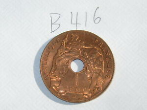 1 Cent French Indochina Coin 1939-A (See Photos) #B416