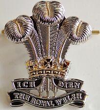 ROYAL WELSH REGIMENT CLASSIC GENUINE REGIMENTAL CAP BADGE