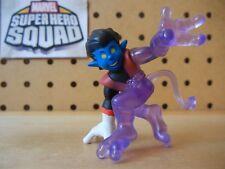 Marvel Super Hero Squad RARE NIGHTCRAWLER Teleporting Half Clear / Purple X-Men