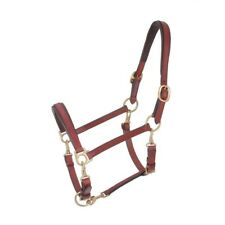 NEW Tough-1 Royal King 4-Way Stable/Grooming Leather Halter Horse Size Brown