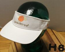 DEKUYPER PEACHTREE SCHNAPPS WHITE ADJUSTABLE VISOR HAT IN EXCELLENT CONDITION H6