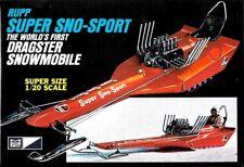 """MPC Rupp """"Super Sno-Sport"""" Dragster Snowmobile, 1/20 scale"""