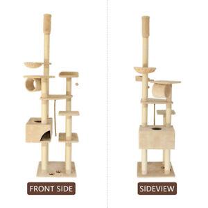 Cat Tree Gym Cando House Furniture Scratching Post Scratcher Pole New AU 3FB0