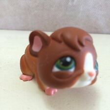 Littlest Pet Shop #4 Brown & White Guinea Pig green eyes - USA seller 6 pictures