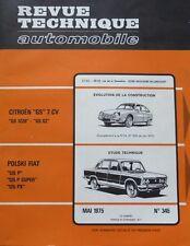 NEUF Revue technique FIAT POLSKI 125 P SUPER PX RTA 345 1975 CITROEN GS 1220 X2