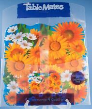 Table Mates Placemats & Coasters Set of 4 NIP Sunflowers