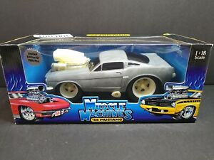 Muscle Machines Raw 1966 Mustang Limited Edition 1 of 1000 Rare 1:18 Bare Metal