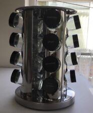 Moderne Acier Inoxydable Rond Tournant cuisine épices Tower Rack avec pots de verre