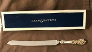 """Lovely Reed & Barton Francis I Pattern Sterling Handle Cake Knife 12 1/2"""" MIB"""