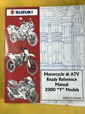 2000 Suzuki Motorcycle & Atv Y Models Ready Reference Manual