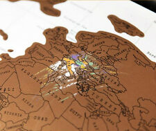 Personalized Worldwide World Map Poster Traveler Antique Map For Traveler 1pc