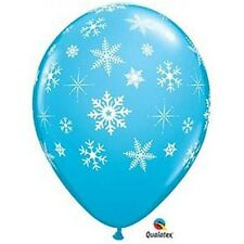 Party Supplies Winter Frozen Snowflakes & Sparkles Latex Balloons Pack of 10