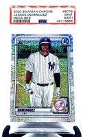 2020 Bowman Chrome Megabox Refractor Yankees JASSON DOMINGUEZ RC CARD PSA 9 MINT