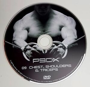 P90X DVD Chest Shoulders and Triceps Beachbody The Workouts Disc 9