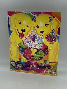 LISA FRANK Casey & Candy Pocket Folder Puppy Love Ice cream Sundae Dog