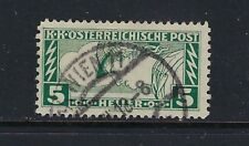 1917 Austria Scott QE4c Special Handling perf 12.5 x 11.5 used scarce & signed