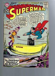 SUPERMAN  154  VG/FN  5.0  - 1962   - SILVER  AGE DC COMICS