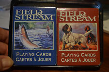 FIELD AND STREAM PLAYING POKER CARDS-IN METAL COLLECTIBLE GIFT BOX