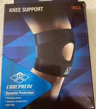 LP SUPPORT 788 Open Patella Knee Support Body Protector Brace Guard Black