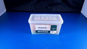 Ancienne boite à ampoules en plastique MAZDA vintage pour véhicule PEUGEOT 12V