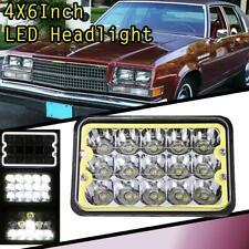 "4x6"" Inch 15 LED CREE Sealed Beam Halo Hi/Lo Headlight Headlamp For Chevy Buick"