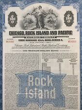 Action Chicago Rock Island ans Pacific Train Rail Road Compagny 1000 Dollar 1980