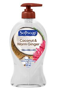 Softsoap Liquid Hand Soap Pump, Coconut and Warm Ginger - 11.25 oz