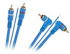 5m Cinch Kabel 2RCA - 2RCA 90°Winkel Stereo HiFi mit einem Steuerkabel