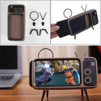 Portable BT Bluetooth Speaker TV Design Mobile Phone Holder FM Radio Retro 90 S