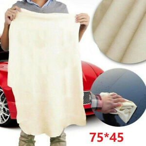 Natural-Shaped Thickened Car Cleaning Suede Leather Cloth Washing and Drying