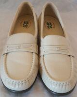 SAS Easier Shoes Mocha Beige Tan Comfort Leather Loafer Womens 7.5N Narrow