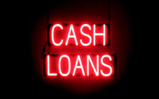 SpellBrite Ultra-Bright CASH LOANS Sign (Neon look, LED performance)