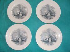 4 assiettes a dessert  n° 11 de David Johnson faïencerie ancienne bordelaise