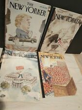 The New Yorker Magazine lot of 6 Donald Trump inauguration Grand Illusion 2016