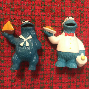 Cookie Monster Applause Lot 2pc Sailor Waiter MUPPET PVC Sesame Street