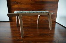 Minimaliste chêne bois indoor bench-rembourré gotland en peau de mouton tapis - 3
