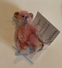 Deb Canham Artist Designs�Sugar�Mini Mice- 21/2�Pale Pink Mohair Jointed Special